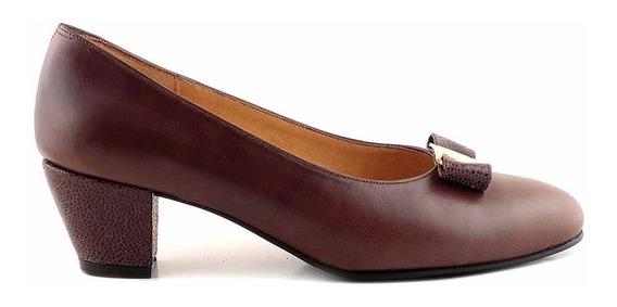 Zapato Cuero Mujer Briganti De Vestir Taco - Mccz03448 Vh