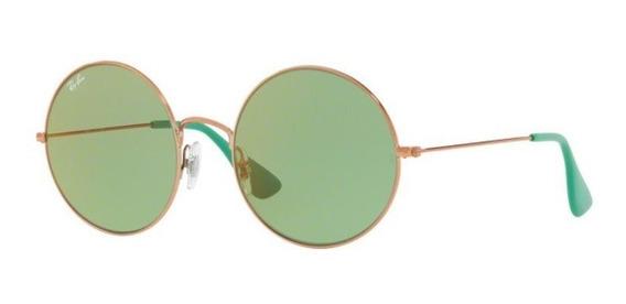 Oculos Sol Ray Ban Ja Jo Rb3592 9035c7 55mm Bronze Lt Verde