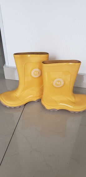 Bota Lluvia Niño/niña Mimo T32/33 Amarillas. Impecables.