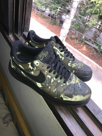 Tenis Nike Airforce Camuflado Refletivel