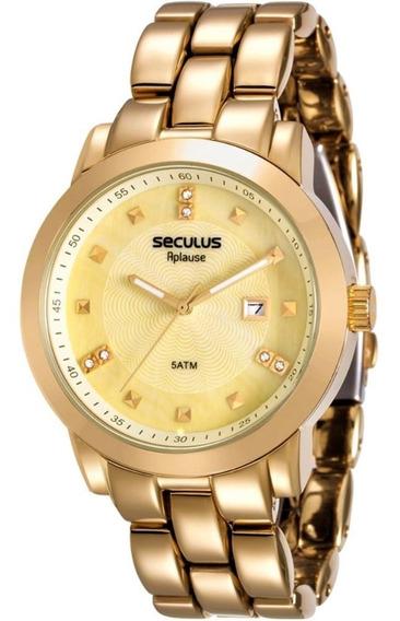 Relógio Seculus Feminino Aplause 20422lpsvda1
