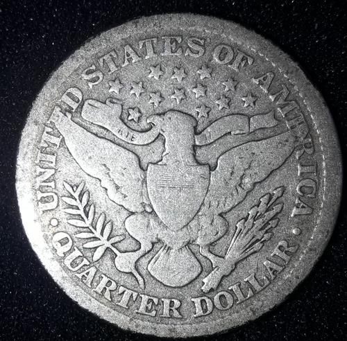 Imagem 1 de 3 de Moeda Quarter Dollar 1899 Estados Unidos