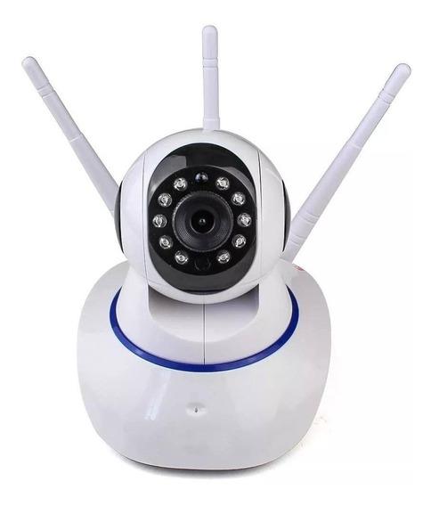Câmera Rotativa De Segurança Monitoramento Wi-fi 3 Antenas