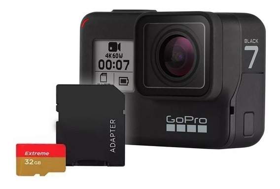 Gopro Câmera Digital Video Hero7 Black Sd Card Extreme 32gb