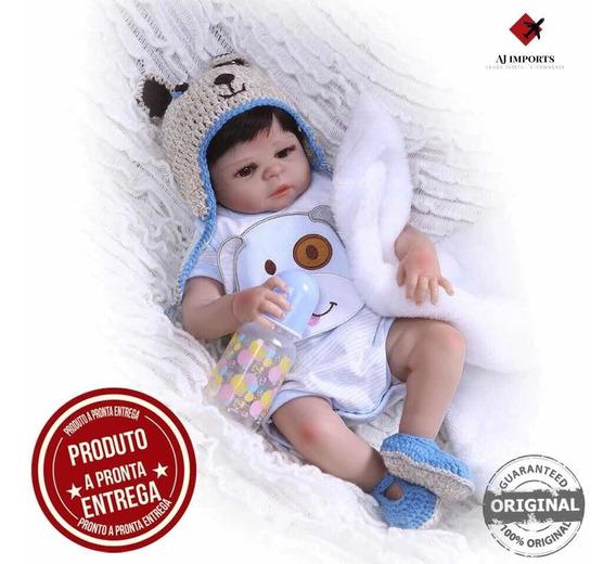 Bebê Reborn Corpo De Silicone + Acessórios - Pronta Entrega