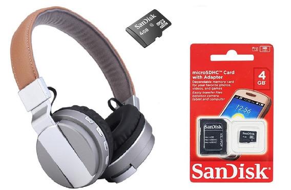 Fone De Ouvido Headphone Sem Fio Wireless + Cartão 4gb Novo