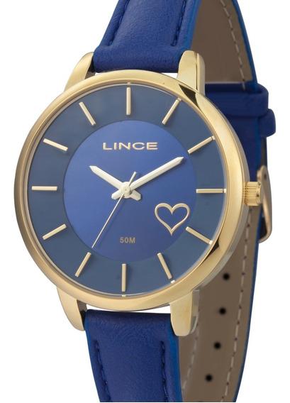 Relógio Lince Feminino Couro Azul - Lrc4528l D1dx