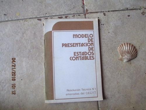 Modelo De Presentacion De Estados Contables - R. T. Nº 1