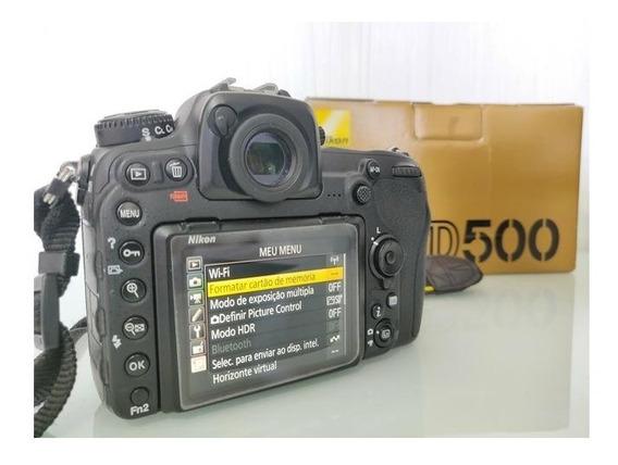 Nikon D500 + Kit ( Bolsa Tripé Grip 64gb )