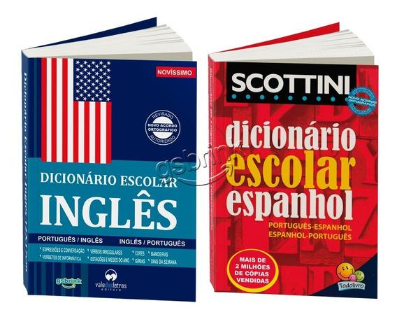 Kit 2 Dicionários Inglês + Espanhol (atualizados)