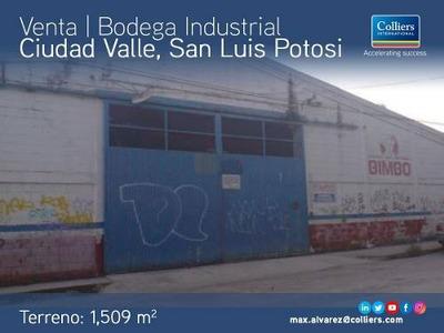 Bodega Industrial Disponible Para Venta, Cd Valle, Sn Luis P