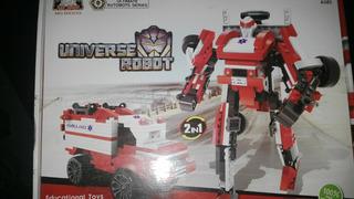 Lego Alternativo Transformers Ambulancia 247 Piezas 2 En 1
