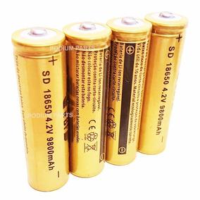 4 Bateria Pilha 18650 9800mah 4,2v Lítio Recarregável
