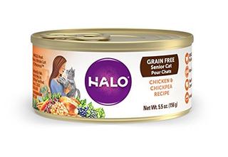 Halo Holística Alimento Húmedo Para Gatos Mayores, Grano Lib