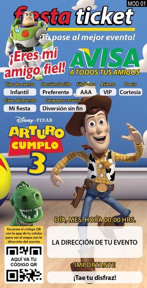 Invitación Digital Personalizada Toy Story