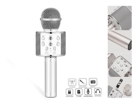Microfone Bluetooth Sem Fio Karaokê Youtuber Estilo Reporter