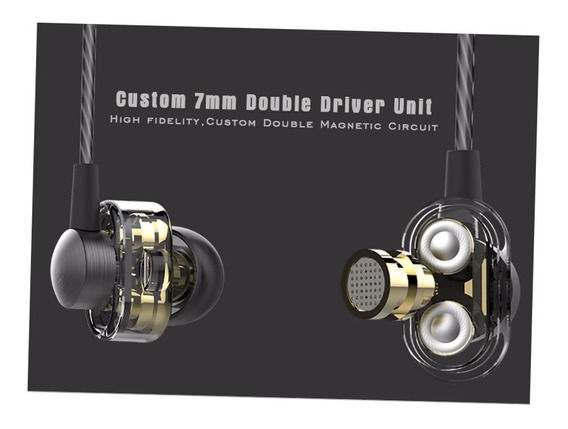 Fone In Ear Profissional Dual Driver Palco Smartphone