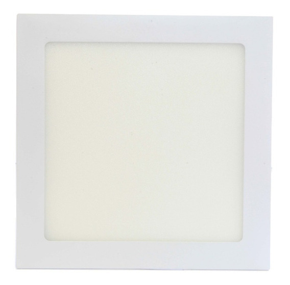 Kit 06 Luminária Plafon Led 18w Embutir Maxtel Quadrado Frio