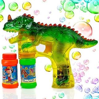 Pistola De Disparos De Burbujas De Dinosaurio Toysery Light