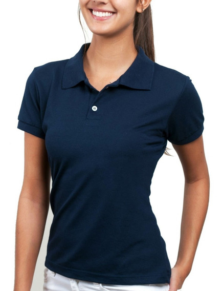 Kit 5 Camisas Polo Feminina Piquet Atacado Blusa Camisetas