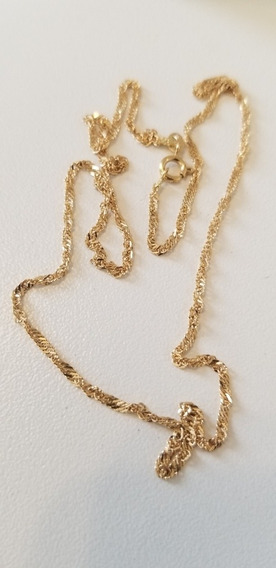 Corrente Singapura 45cm Em Ouro 18k750