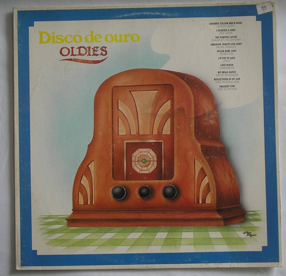 Lp Vinil Disco De Ouro Oldies 1991 Novo