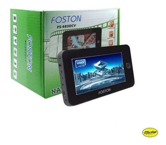 Gps Foston 4.3 Pol. Fs-483dcv Filmadora / Tv / Cam. De Ré
