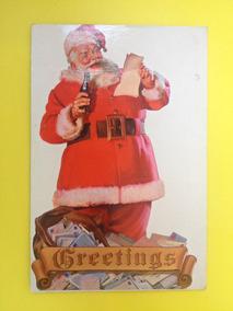 Cartão Postal Natal Da Coca-cola Do Papai Noel Original (03)