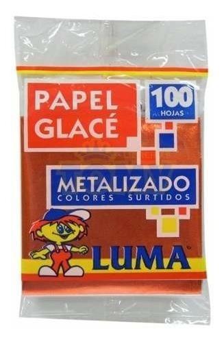 Papel Glace Luma Metalizado Taco X100 Unidades
