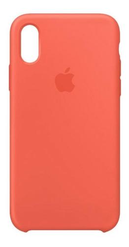 Imagen 1 de 1 de Carcasa Funda De Silicona Para iPhone XS Nectarine