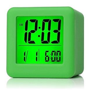 Reloj Despertador Digital Con Repetición, Luz Nocturna Suave