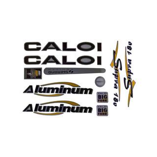 Adesivo Bicicleta Caloi Alumínio Supra Preto Frete Grátis
