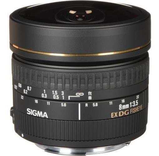 Lente Sigma 8mm F/3.5 Ex Dg P/ Canon Olho De Peixe