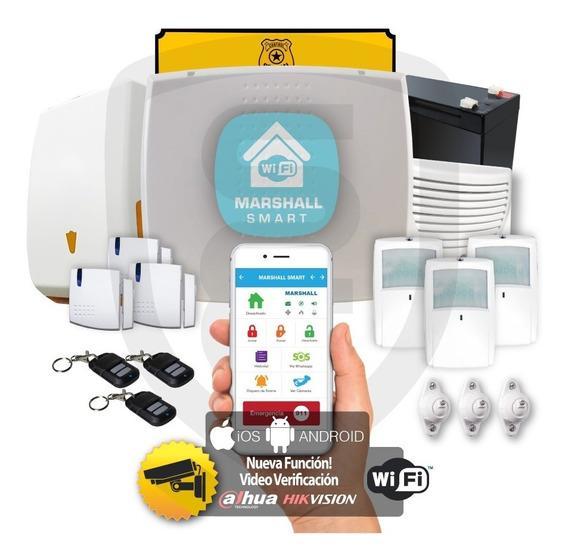 Kit Alarma Inalámbrica Marshall 3 Ip Wifi Aplicación Celular Marshall Smart Domiciliaria Hogar Casa Comercio Kit9
