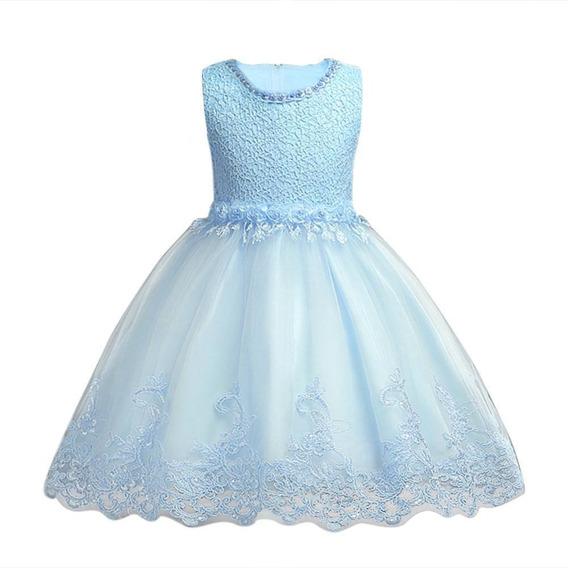 Finisimo Vestido De Fiesta Para Niñas En Varias Capas