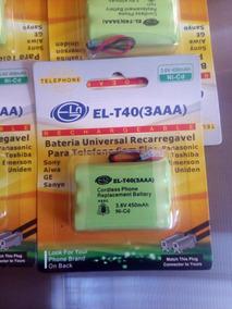 Kit Com 10 Bateria El-t40(3aaa) Recarregável Lacrado