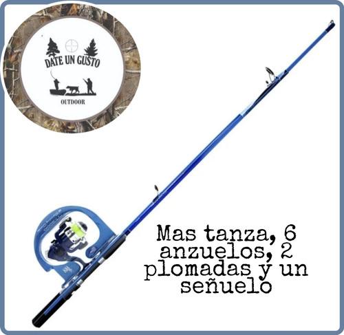 Kit Caña Pescar + Reel Challenger +señuelo Y Plomada 2tramo
