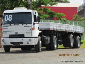 Ford Cargo 4532 Com Carreta Vanderleia 2 Eixos Carga Seca