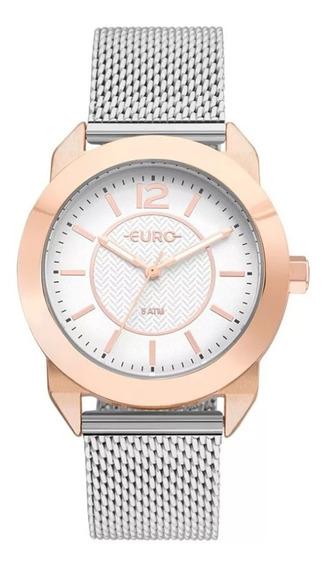 Relógio Feminino Euro Eu2036ylt/4j Prata/rose