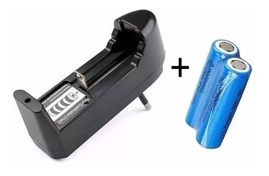 Kit 2 Baterias 18650 3.7v 6800mah + Carregador Universal.