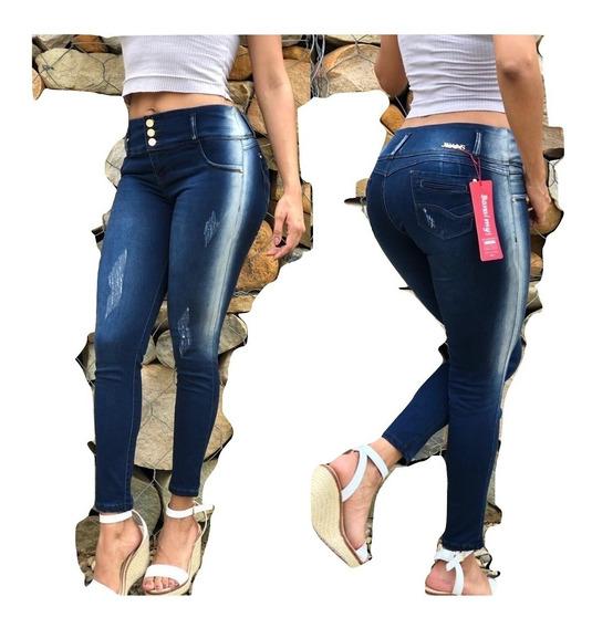 Jeans Pantalon Strechs Corte Alto Rotos Nuevos Modelos Mercado Libre