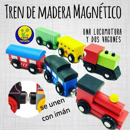 Imagen 1 de 1 de Tren Magnético De Madera