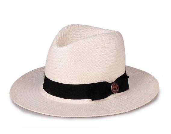 Chapéu Panamá Aba Média Laço Palha Shantung Chapéu E Estilo
