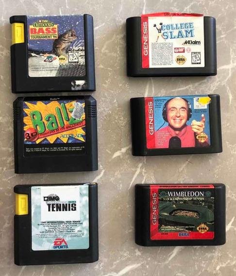Kit Cartuchos Do Mega Drive/genesis - Originais