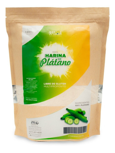 Imagen 1 de 1 de Harina De Platano Sin Gluten - kg a $25