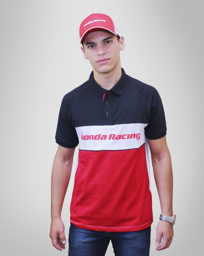 Camisa Pólo Masculina Moto Honda - Racing - Produto Oficial