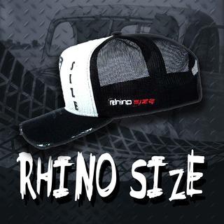Boné Rhino Size Cinza E Preto