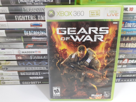 Jogo Gears Of War - Xbox 360 Mídia Física Usado