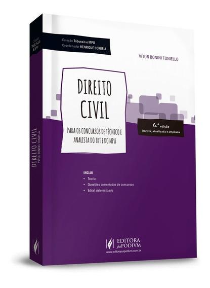 Livro Direito Civil Para Concursos De Técnico/analista 2018