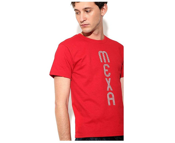 Playera Roja Mexa Simple People Para Hombre Talla S